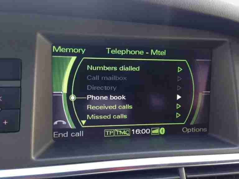 A6 4F OEM Bluetooth Retrofit Manual